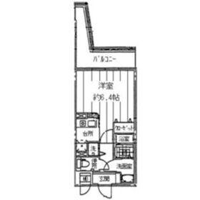 レジディア天神橋6階Fの間取り画像