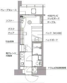 レックスガーデン神楽坂北町4階Fの間取り画像