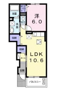 アムールA1階Fの間取り画像