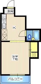 メゾン二本榎1階Fの間取り画像