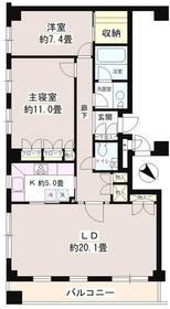 南青山コートヒルズ3階Fの間取り画像
