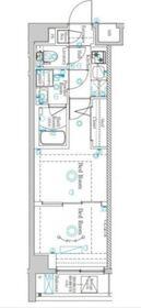 ラフィスタ蒲田南22階Fの間取り画像