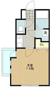 湘南マンション3階Fの間取り画像