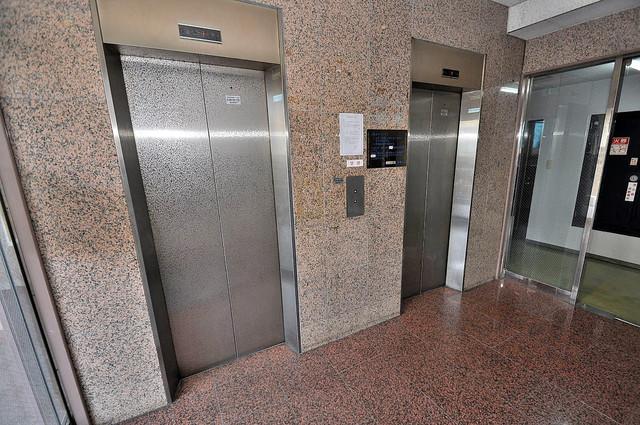 ロイヤル巽 エレベーター付き。これで重たい荷物があっても安心ですね。