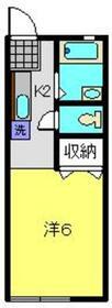 第2神橋ハイツ1階Fの間取り画像