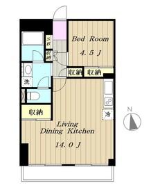 聖蹟桜ヶ丘スカイマンション6階Fの間取り画像