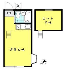 エクレール成増 202号室間取り図
