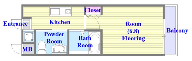 M'プラザ小阪駅前 バス・トイレがセパレート、各所に収納がある使いやすい間取り。