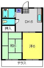 アミティーNO.41階Fの間取り画像