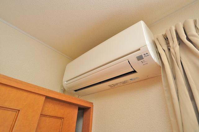 レオパレススズラン エアコンが最初からついているなんて、本当にうれしい限りです。