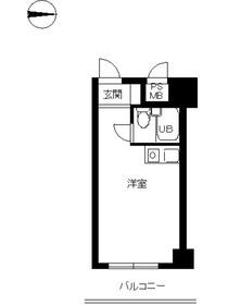 スカイコート渋谷3階Fの間取り画像