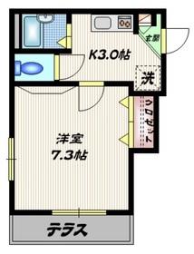 メゾンロワール一番館1階Fの間取り画像