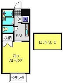 三ッ沢上町駅 徒歩20分2階Fの間取り画像