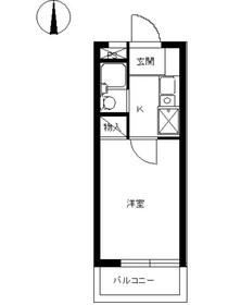 スカイコート白楽23階Fの間取り画像