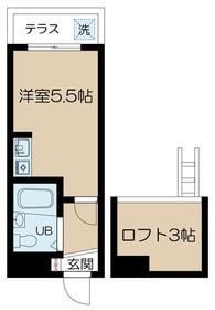 荏原中延駅 徒歩8分1階Fの間取り画像