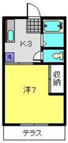 元住吉駅 徒歩15分1階Fの間取り画像