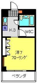 新川崎駅 徒歩19分5階Fの間取り画像