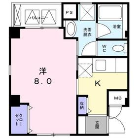 ベルメゾン 丸松4階Fの間取り画像