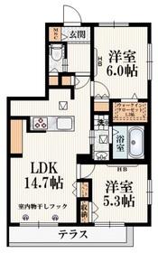 (仮称)横川町・Bメゾン1階Fの間取り画像