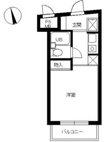 スカイコート西新宿第23階Fの間取り画像