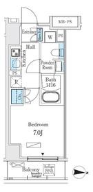 リビオメゾン両国イースト8階Fの間取り画像
