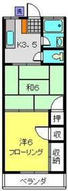 雅風荘2階Fの間取り画像