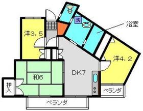 第2八千代ビル4階Fの間取り画像