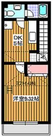 下赤塚駅 徒歩6分2階Fの間取り画像