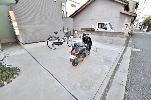 プログレス長瀬 あなたの大事な自転車も安心してとめることができますね。