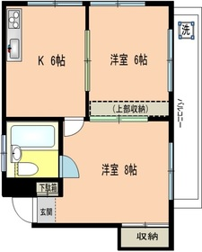 笹塚駅 徒歩5分2階Fの間取り画像
