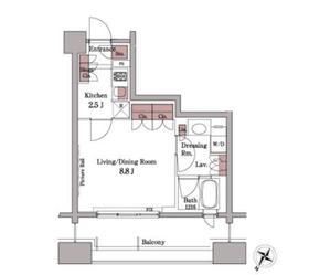 パークアクシス白金台4階Fの間取り画像