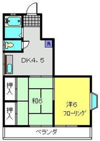 メゾン池田B1階Fの間取り画像