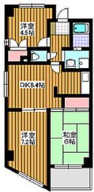 中板橋駅 徒歩2分3階Fの間取り画像
