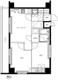 ルーブル高田馬場弐番館5階Fの間取り画像