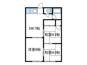 池田ハイツ1階Fの間取り画像