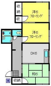 ハイツオギシマ2階Fの間取り画像
