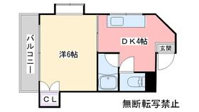 ルネッサンス室見3階Fの間取り画像