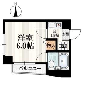 ロジュマン大裕3階Fの間取り画像