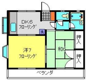 プラムガーデンA2階Fの間取り画像