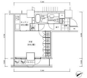 パークキューブ愛宕山タワー16階Fの間取り画像