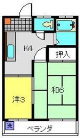 タカノハイツ2階Fの間取り画像