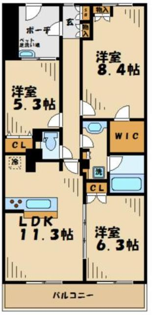 はるひ野駅 徒歩2分間取図