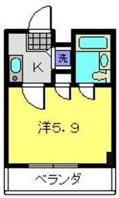 ドミトリーゴコー2階Fの間取り画像