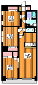 ルシオール赤塚5階Fの間取り画像