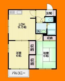 メゾンASUKA1階Fの間取り画像