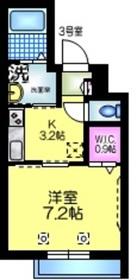 CALMOVERA カルモヴェーラ3階Fの間取り画像