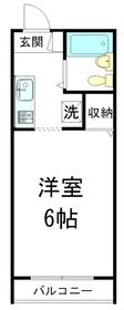 メゾン永安里1階Fの間取り画像