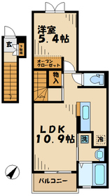 プロムナードM2階Fの間取り画像