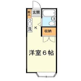 光コーポ寺尾2階Fの間取り画像