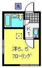 菊名イッセイハイツ1階Fの間取り画像